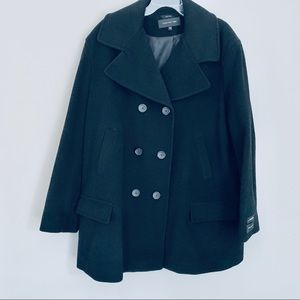 Jones New York plus size cashmere blend pea coat
